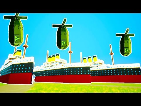 TITANIC LEGO SHIPYARD USED IN NEW NUCLEAR BOMB TESTING! - Brick Rigs Workshop Creations Gameplay