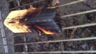 Burn Wood Untreated Left    Treated Right