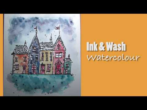 Learn Watercolor: Ink and Wash with Creative Scoop