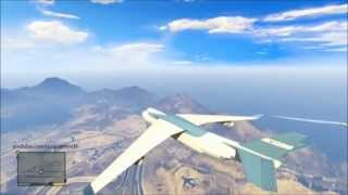Grand Theft Auto 5: Hijacking a Cargo Plane Mid Flight
