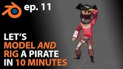 Let's MODEL and RIG a Pirate in 10 MINUTES in Blender 2.82 - ep. 11