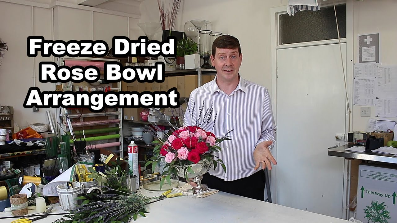 Freeze Dried Preserved Rose Bowl Arrangement Youtube