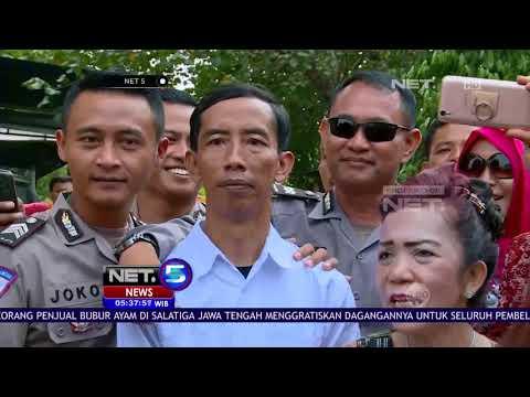 Jokowi KW Keluar Gedung, Warga Berebut Foto - NET5