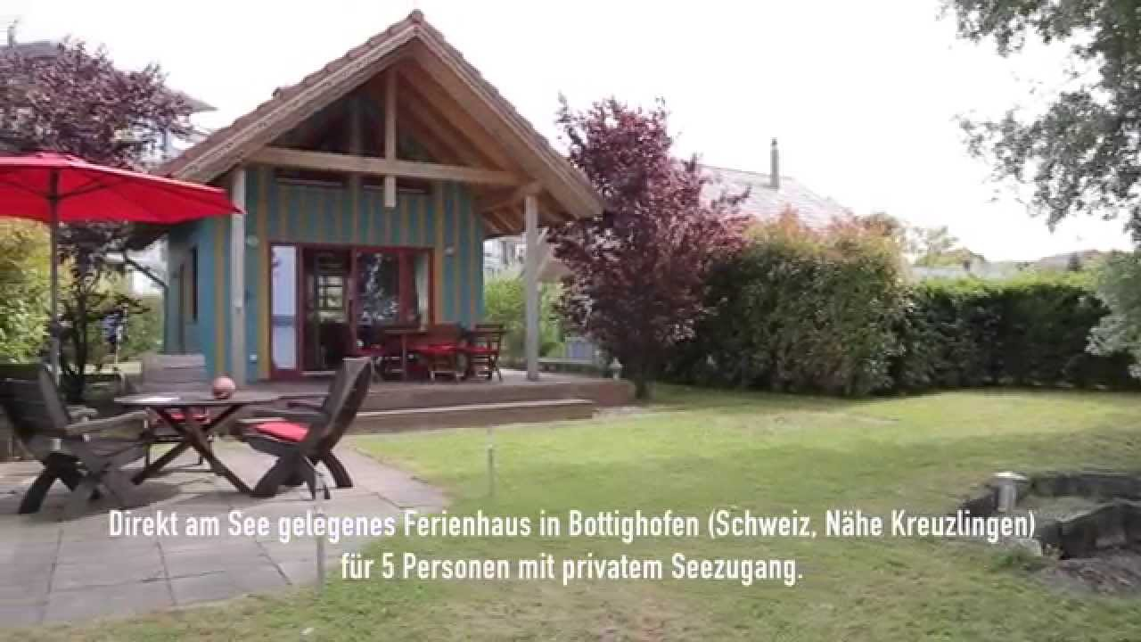 ferienhaus direkt am see bottighofen bodensee schweiz youtube. Black Bedroom Furniture Sets. Home Design Ideas