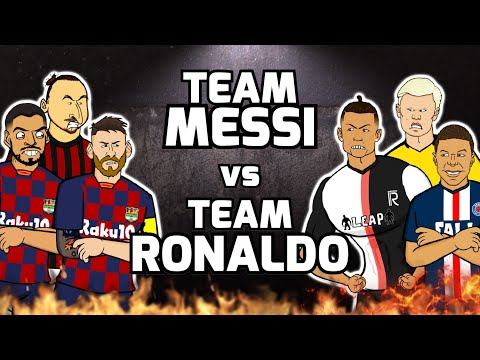 🔥Team Messi vs Team Ronaldo🔥 Football Challenges! Frontmen S