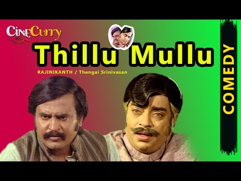 Thillu Mullu | All Comedy Scenes | Rajinikanth, Thengai Srinivasan