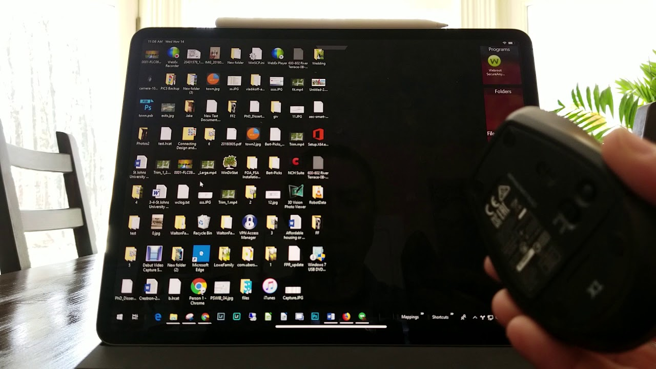 iPad Pro 12 9 2018 with the X1 Bluetooth mouse (RDP use)