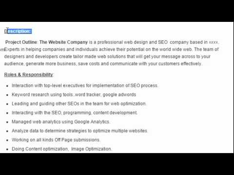 seo manager sample resume format download youtube