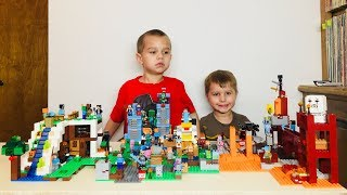 Huge Minecraft Lego Set! The Waterfall Base (21134) Build With Kids