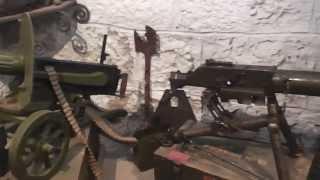 WW1 Museum : Maschinengewehre aus dem WK1 an der Südfront (MG, Maxim, 0815)
