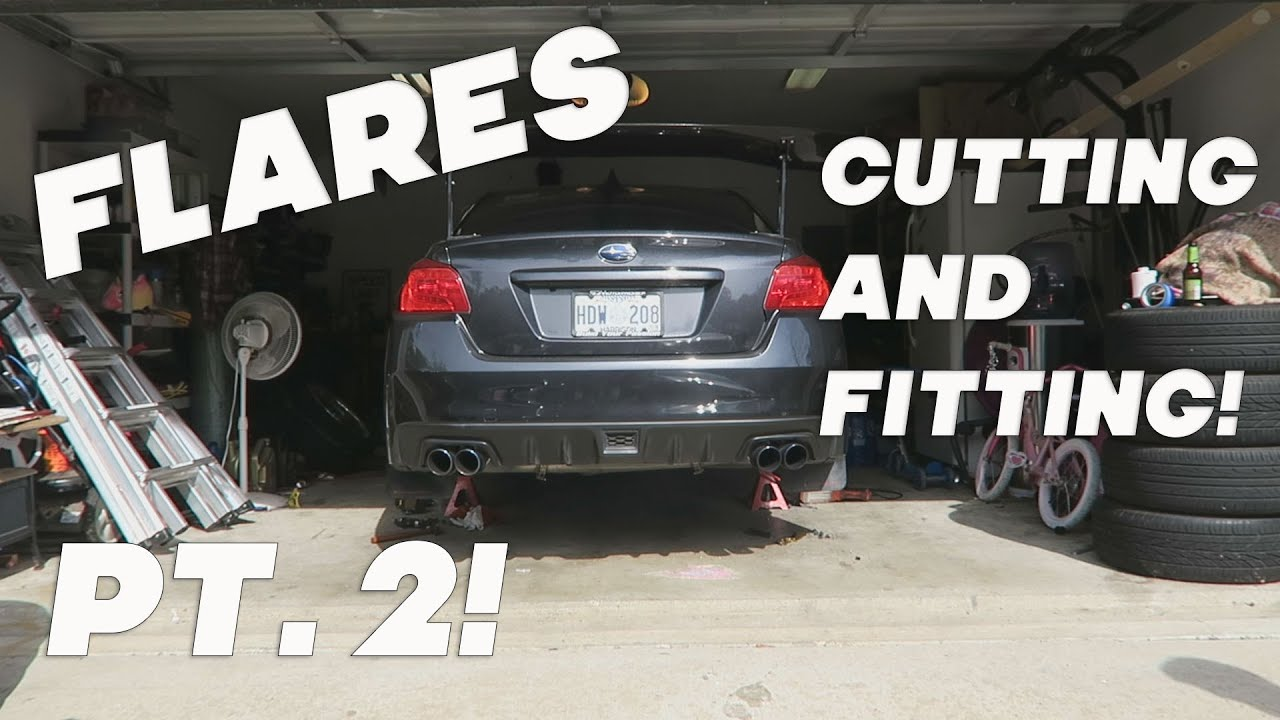 2015 Subaru Wrx Ht Autos Fender Flares Pt 2 Cutting And Fitting Youtube
