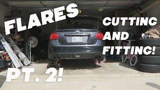 2015 subaru wrx ht autos fender flares pt 2 cutting and fitting