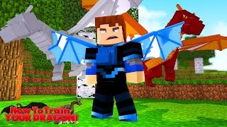 HUNTING DOWN EVIL DRAGONS - Minecraft HOW TO TRAIN YOUR DRAGON