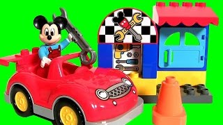 LEGO DUPLO Mickey's Workshop 10829 Cars Mechanic from Disney Kids Toys Mickey Mouse Clubhouse