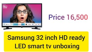 samsung 80cm 32 inches hd ready smart led tv ua32t4310akxxl unboxing and review price 16 500