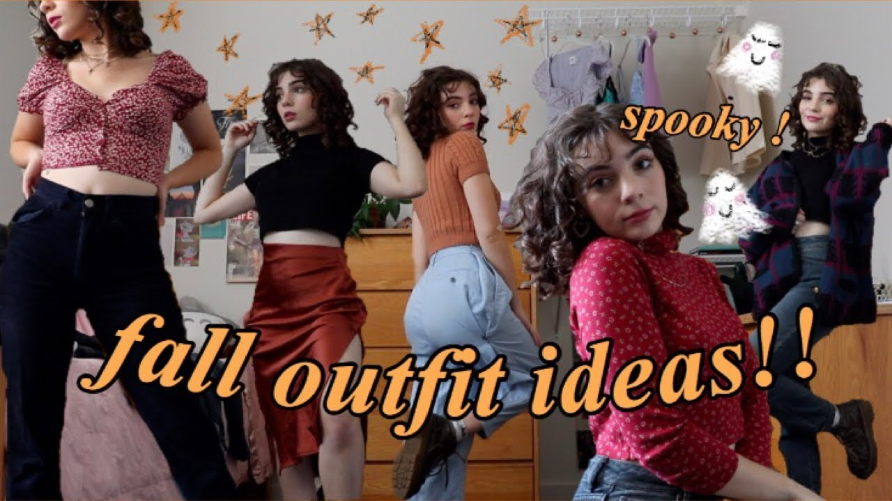 [VIDEO] - FALL OUTFITS!  *spooky* outfit ideas: Thrifted, Princess Polly, Depop 5
