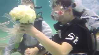 Подводная свадьба, остров Ко Тао, Таиланд (Underwater wedding, Koh Tao, Thailand)(Подводная свадьба, остров Ко Тао, Королевство Таиланд. Организатор свадьбы PADI 5 Star IDC дайвинг центр