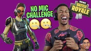 NO MIC CHALLENGE! DUOS w/ Strangers | Fortnite Battle Royale