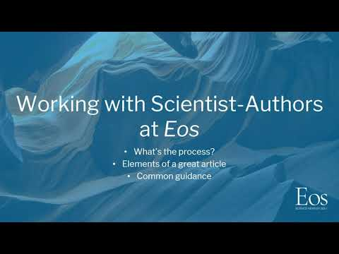 Writing for Eos and a Broad Audience – Part 1