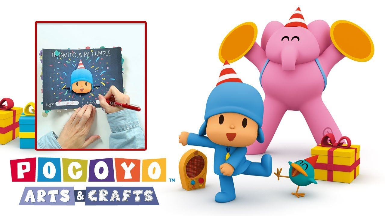 Pocoyo Arts  U0026 Crafts  Pocoyo U0026 39 S Birthday Party Invitation