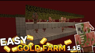 Minecraft Easy Gold Farm: How to make a Gold Farm in Minecraft 1.16 Nether Update