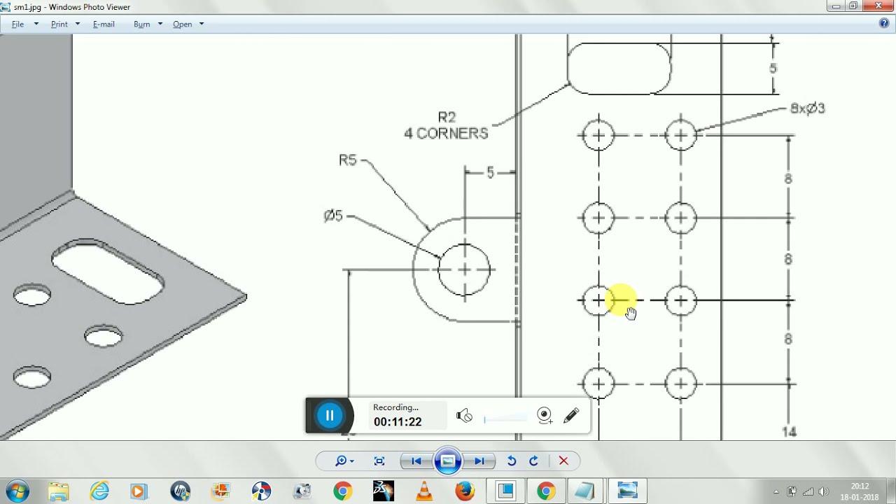Sheetmetal Design And Drafting In Ptc Creo 3 0 Youtube
