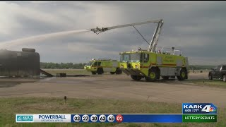 Mock exercise of aircraft accident at Little Rock's airport