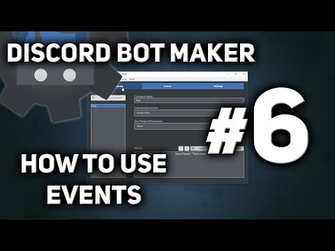 Discord Bot Maker Tutorial #6 - How to use Events