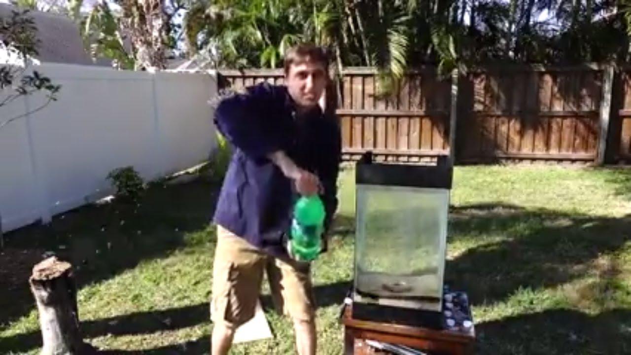 Backyard Scientist Series molten aluminum vs. 15 gallons of sprite - youtube
