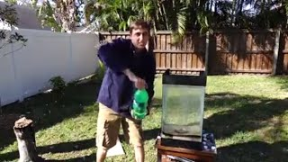Molten Aluminum Vs. 15 gallons of Sprite