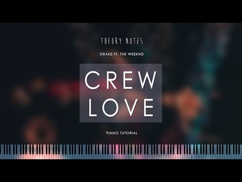 How to Play Drake ft. The Weeknd - Crew Love | Theory Notes Piano Tutorial