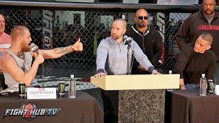 Conor McGregor vs. Nate Diaz Full Video- COMPLETE Press Conference video