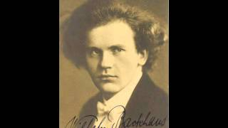 Wilhelm Backhaus plays Chopin Waltz in E flat Op. 18