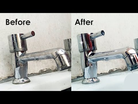 How to clean taps or shower heads | how to remove limescale or clacium deposits from shower heads