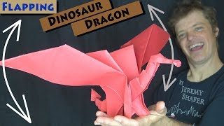Origami Flapping Dinosaur Dragon