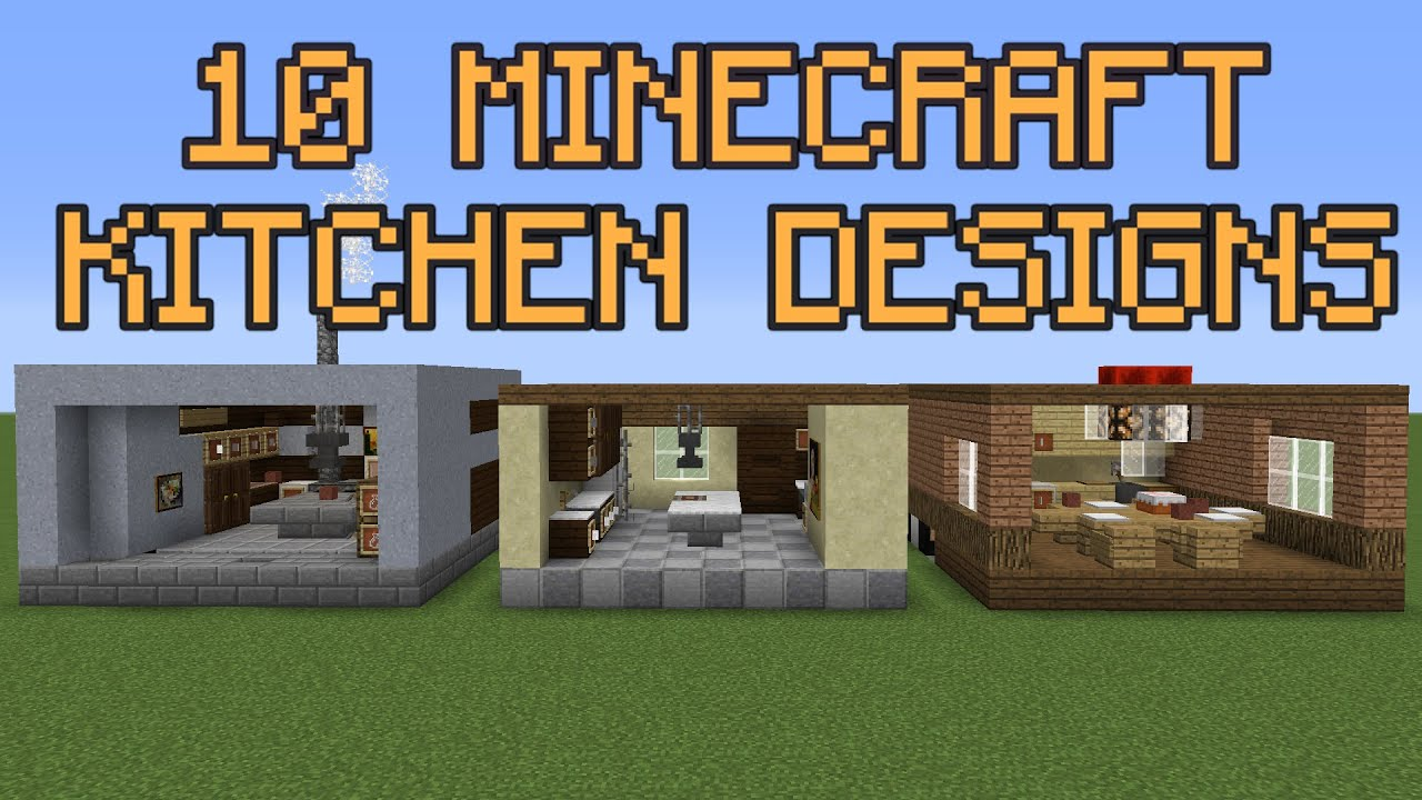 10 Minecraft Kitchen Designs - YouTube