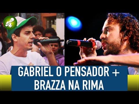 Gabriel O Pensador E Fabio Brazza Improvisando Na Rima