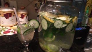 Agua  Fresca De Limon,pepino, Menta Y Jengibre Para Desintoxicar Y Adelgazar