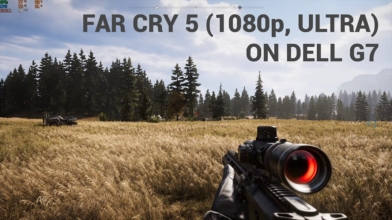 Far Cry 5 on Dell G7 (with -0 150 undervolt)