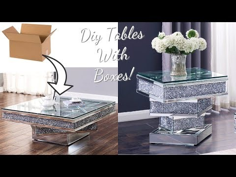 TURN EMPTY BOXES INTO MIRROR GLASS TABLES! GIVEAWAY! GIVEAWAY! GIVEAWAY!