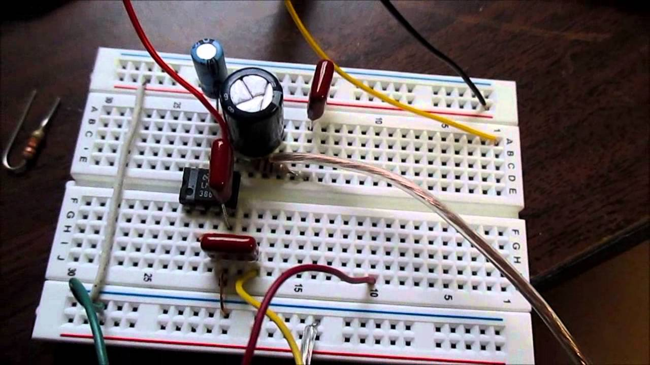 Lm386 Audio Amplifier And Proper Ground Layout Youtube Stereo Circuit