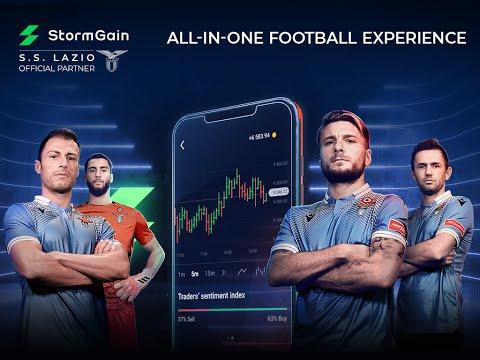 StormGain - Official Partner of S.S. Lazio