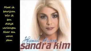 Sandra Kim - Helemaal Alleen (Lyrics)/1998