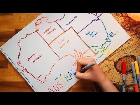 ASMR Drawing A Map Of Australia (Map Monday)