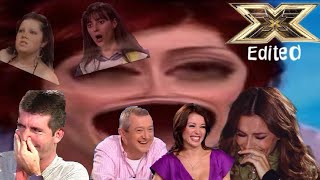 XFactor judges laughing for 9 minutes straight (edited)