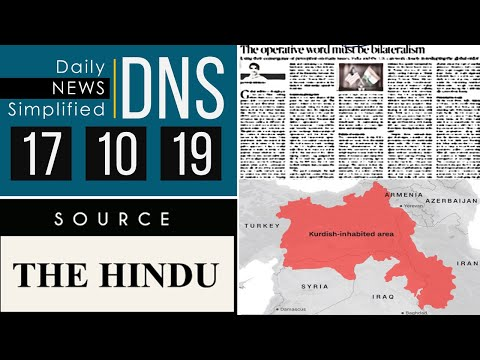 Daily News Simplified 17-10-19 (The Hindu Newspaper - Current Affairs - Analysis for UPSC/IAS Exam)