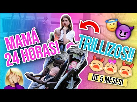¡24 HORAS SIENDO MAMÁ DE TRILLIZOS! (Me VomitaN!!) 😱 || Bianki Place ♡