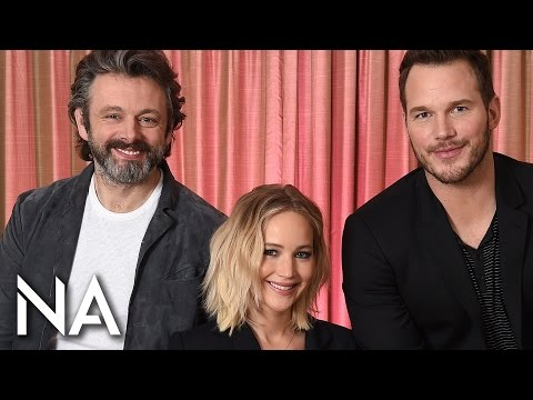 Chris Pratt, Michael Sheen, & Jennifer Lawrence on Robots & Space