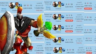 Turning a top lane bully into a snowballing support - Pantheon Support