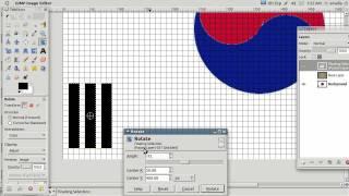 How to draw the flag of South Korea using GIMP